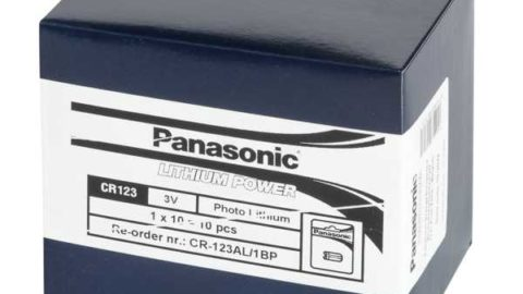 Panasonic CR123A 10-er Pack