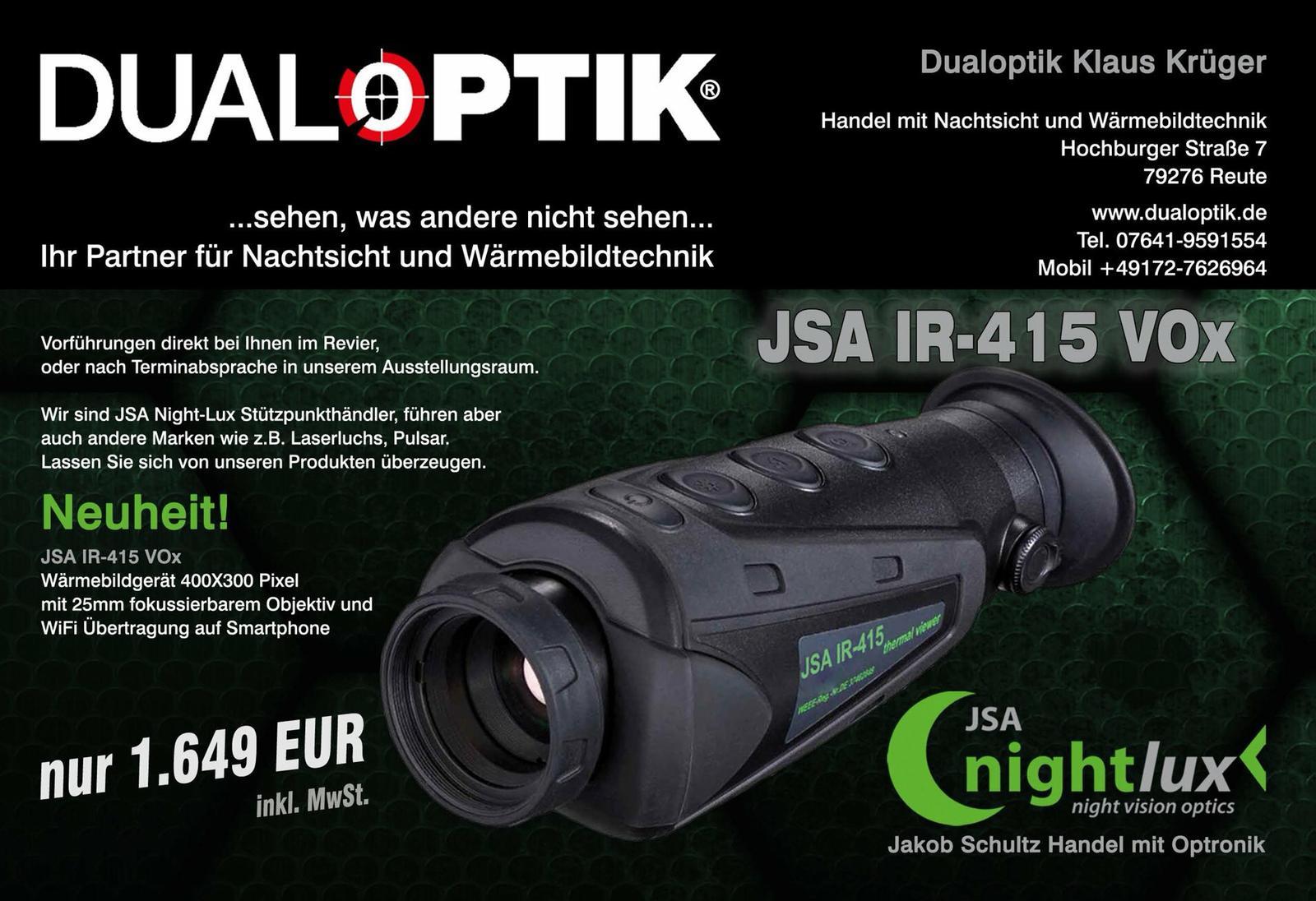 DUALOPTIK®️ Ihr Spezialist für Nachtsicht-Technik