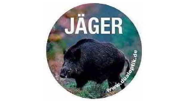 Aufkleber-Jaeger-Wildschwein