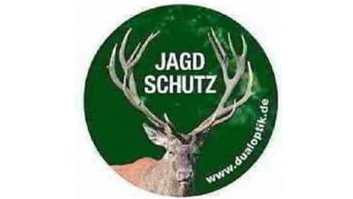 Aufkleber-Jagdschutz-Hubertushirsch