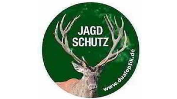 Aufkleber-Jagdschutz-Hubertushirsch-(Set-5-x)