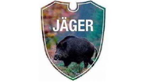 Autoschild-Jaeger-Wildschwein