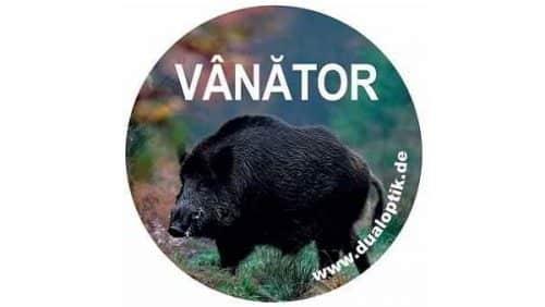 Sticker-vânător-mistreț